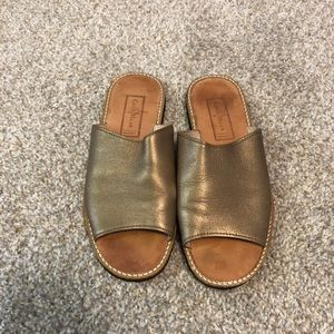 Cole Haan Resort Gold Slide Sandals